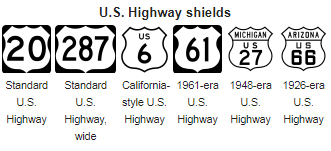 American Highways 101 Visual Guide To Us Road Sign Designs - Us-highway-map-symbols