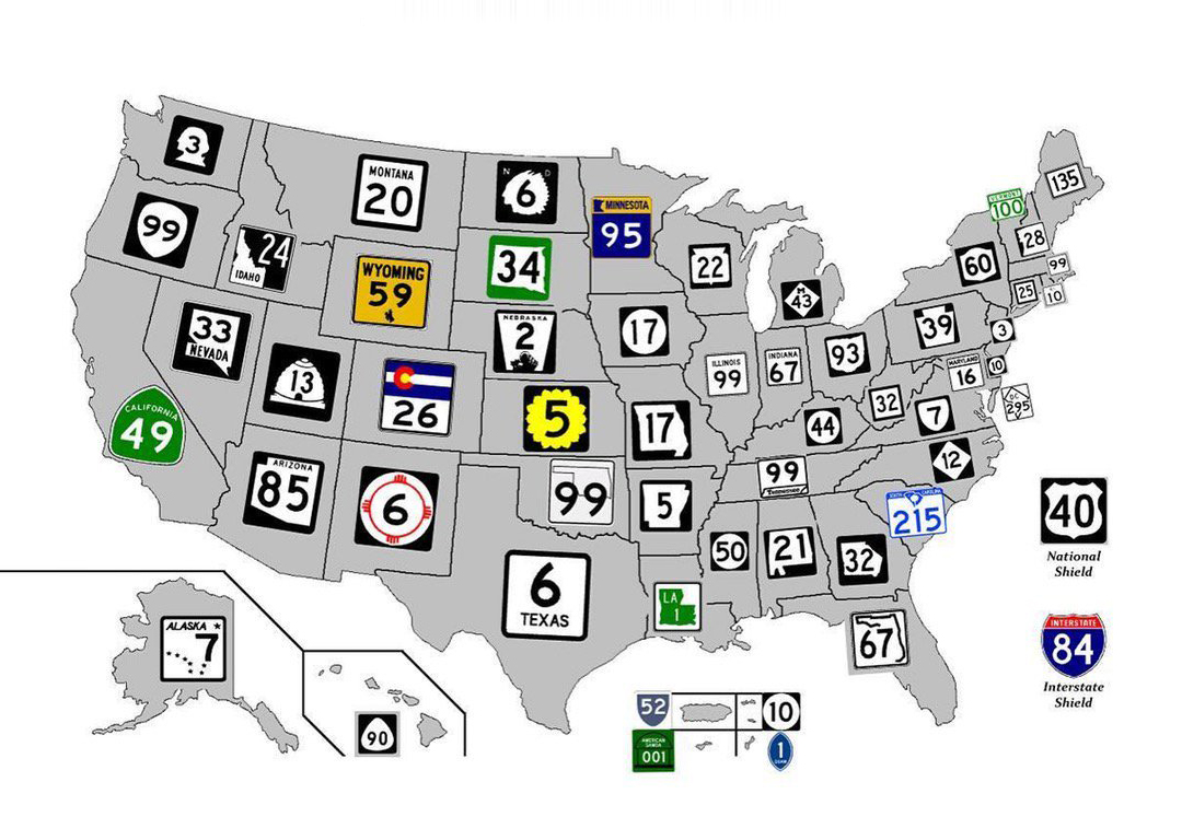 American Highways 101: Visual Guide to U.S. Road Sign ...